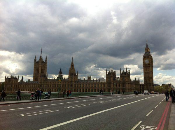 La capitale anglaise sous les nuages