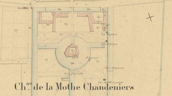 Le plan du château de la Mothe Chandeniers