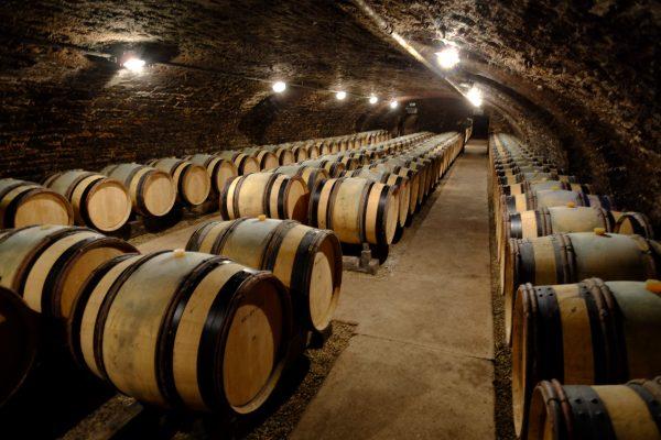 Le vin de Bourgogne repose au frais dans les caves de la côte de Beaune