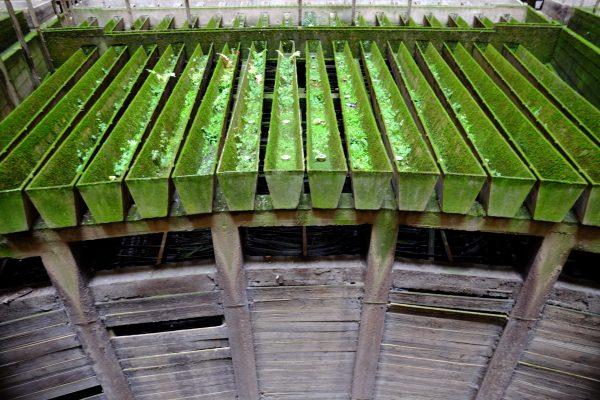 C'est ici que se répendait l'eau bouillante afin de refroidir à l'intérieur de la tour de Charleroi