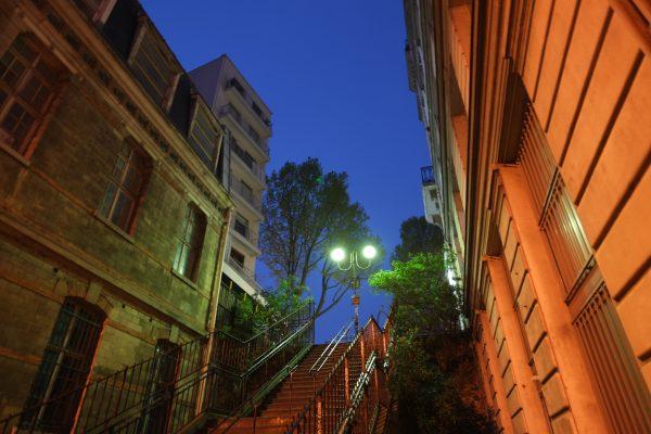 Des marches au charme fou dans le 19 ème arondissement de Paris, Avenue Simon Bolivar