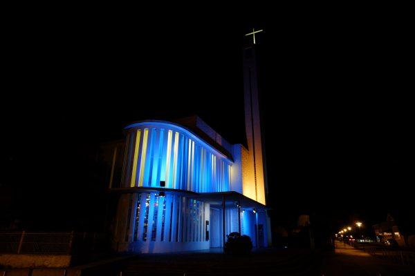 L'église du Cap Ferret durant la nuit