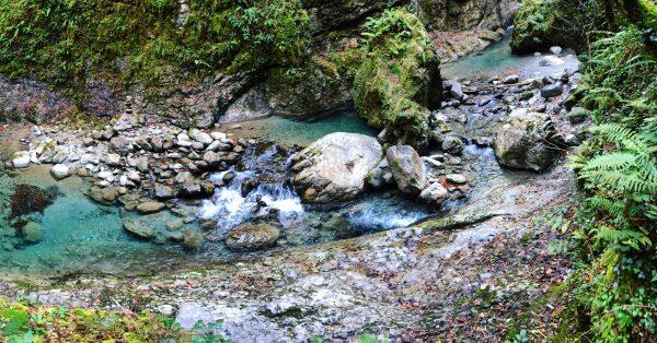 La petite rivière des gorges de Kakuetta