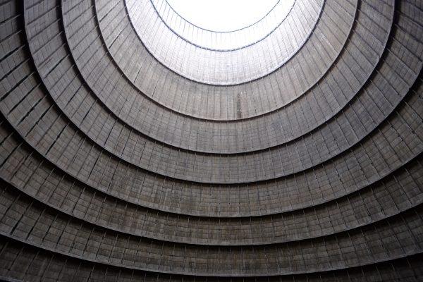 La tour de refroidissement abandonnée de Charleroi