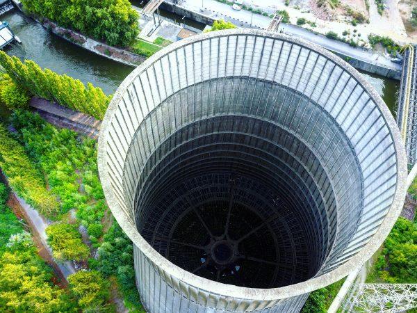 urbex, la tour de Charleroi en drone