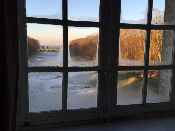 Le Parc du château de Raray sous les gelées