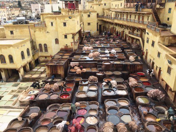 Les tanneries de Fès au Maroc, le clou de la visite
