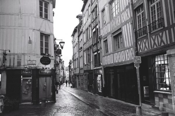 Une des rues du centre ville de Rouen