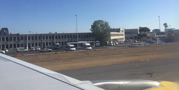 Arrivée à l'aéroport de Rome Fiumicino