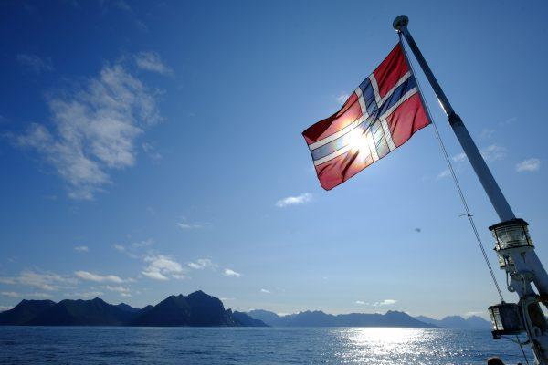Sur un Ferry entre l'île de Senja et les îles Vesteralen