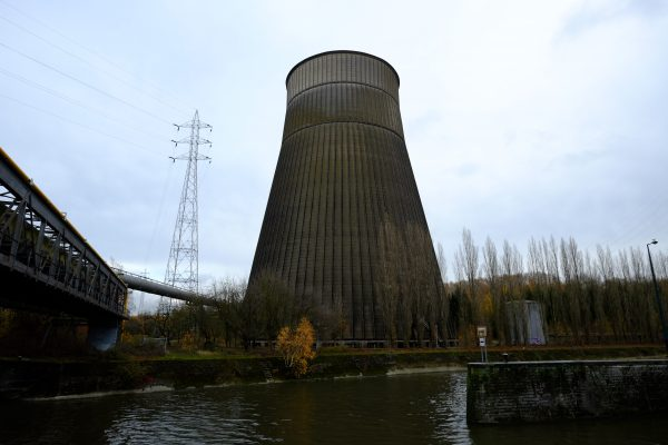 Enfin nous avons trouvé la tour de refroidissement lors de notre escale à Charleroi