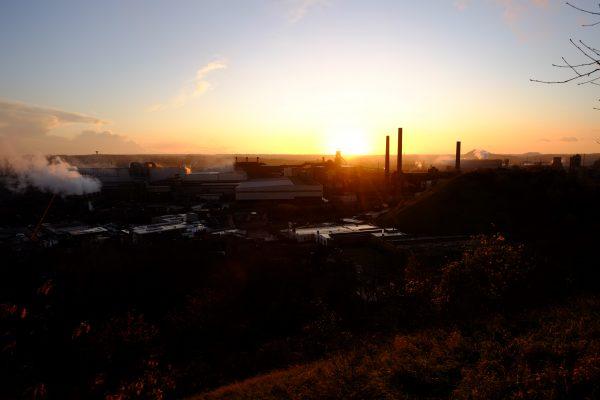Escale à Charleroi pour le temps d'un coucher de soleil