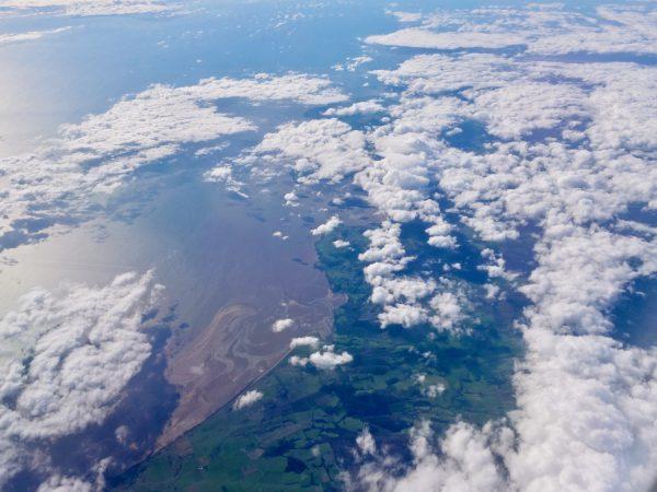 L'Ecosse vue du ciel dans les environs d'Edimbourg