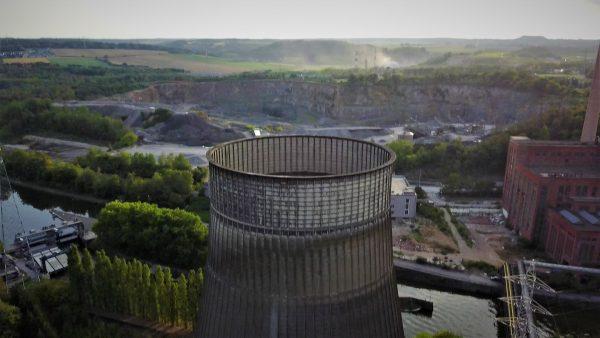 Vue aérienne de la tour de Charleroi