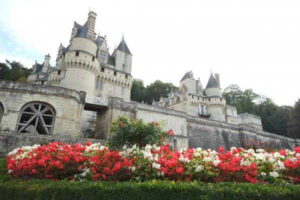 Le château d'Ussé depuis les jardins