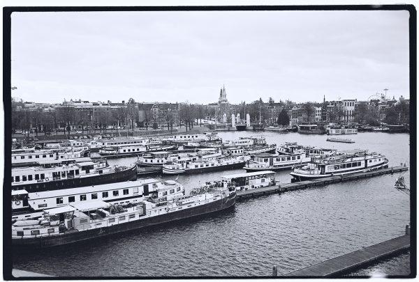 Le port de plaisance d'Amsterdam au Pays Bas