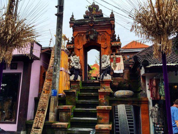 L'entrée d'un temple à Bali