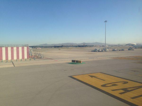 Aéroport de Barcelone, sous le soleil