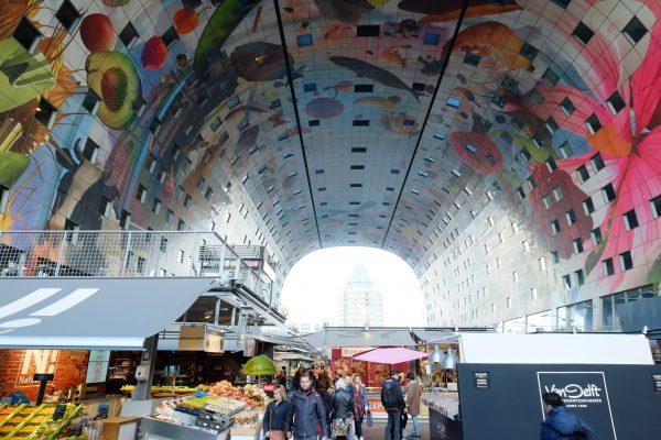 Un centre commercial à Rotterdam aux Pays Bas