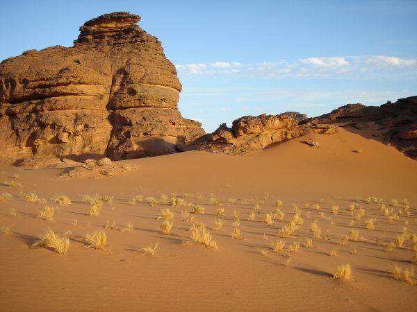 Akakus un massif désertique dans le sud de la Libye