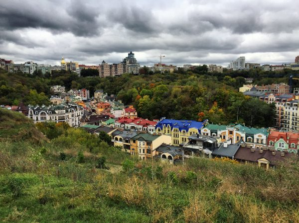 Borichiv Tik, une rue colorée et presque inhabitée à Kiev
