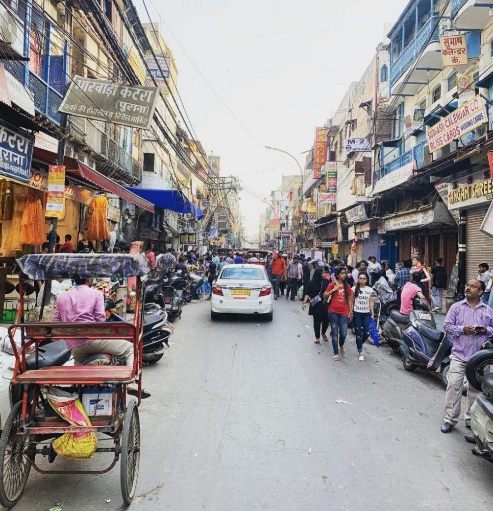 Les rues bondées de Delhi