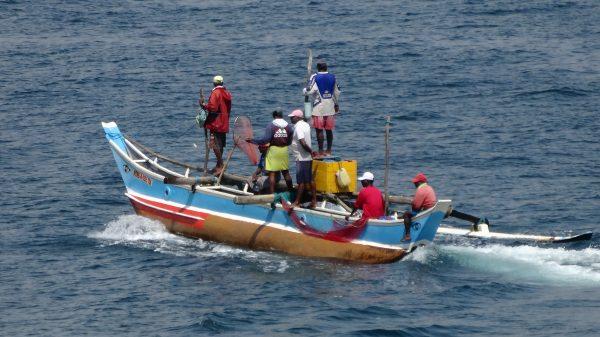 Des pêcheurs partant vers le large