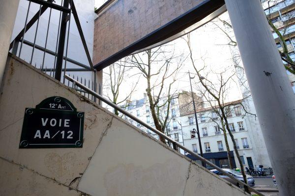 La voie AA 12, Paris 12 ème