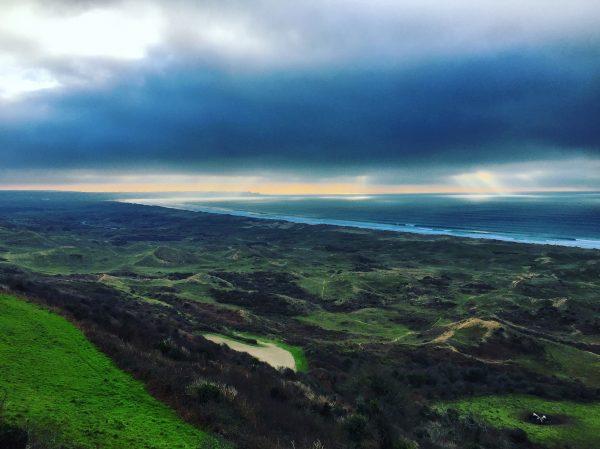 Les dunes de Biville dans la Manche, sur la côte ouest du Cotentin