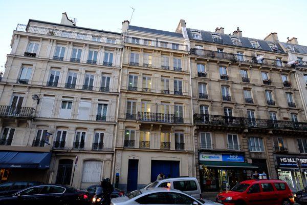 Une façade fictive à Paris