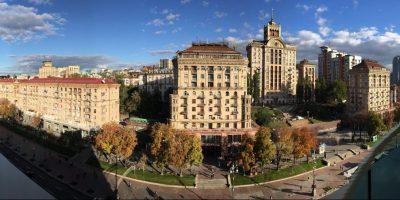 Panorama sur l'avenue Kreschatik, Kiev