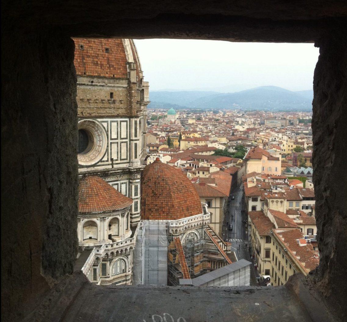 La ville de Florence depuis la clocher de Giotto