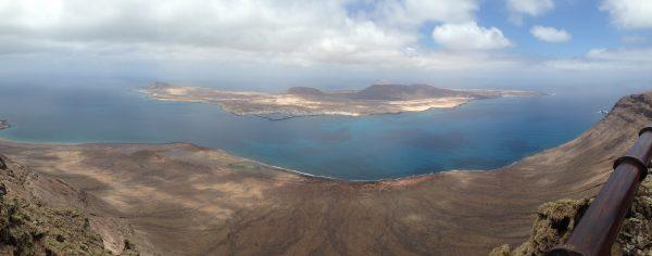 L'île de la Graciosa depuis la falaise de Famara à Lanzarote