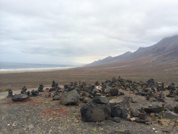 La côte ouest de l'île de Fuerteventura