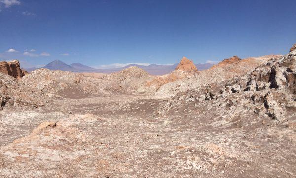 La vallée de la lune dans le désert d'Atacama au Chili