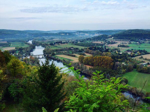 La vue sur la vallée de la Dordogne depuis le village de Domme