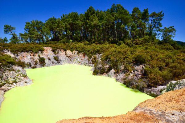 Le bain du diable, Bay of Plenty. Nouvelle Zélande