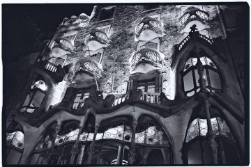 La Casa Batllo, Escale de nuit à Barcelone