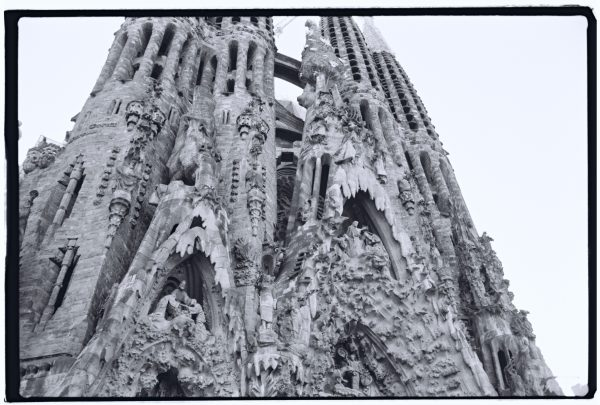 La façade sud de la basilique de la Sagrada Familia, Gaudi Barcelone