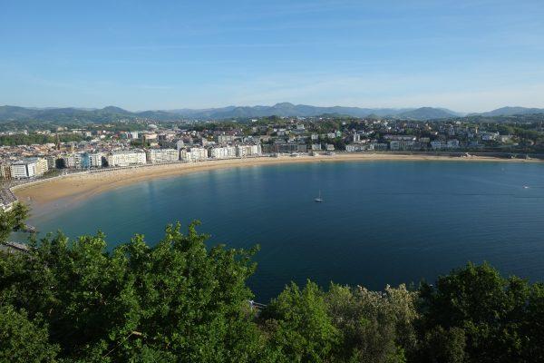 La splendide baie de la Concha à San Sebastian