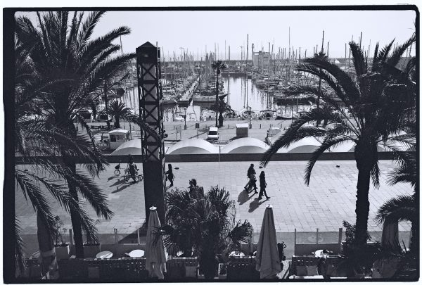 Le port de Barcelone, un lieu sympa pour prendre le soleil et un café