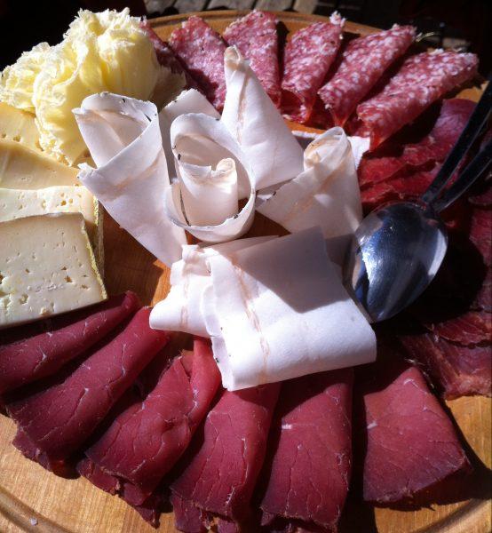 Même sur les pistes de Courmayeur la gastronomie italienne est présente