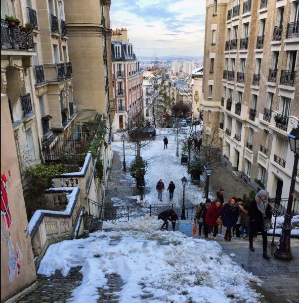 Montmartre sous la neige, février 2018