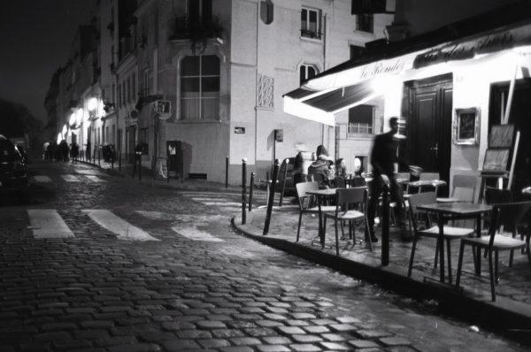 Balade nocturne en hiver à Montmartre