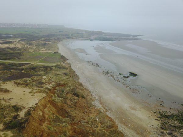Les dunes de la Slack un jour de brume