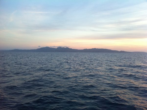 La Sardaigne juste avant la nuit