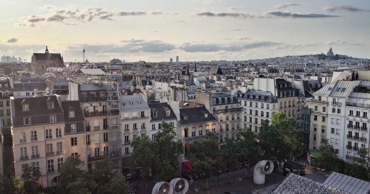 Vue sur Paris depuis l'ultra centre