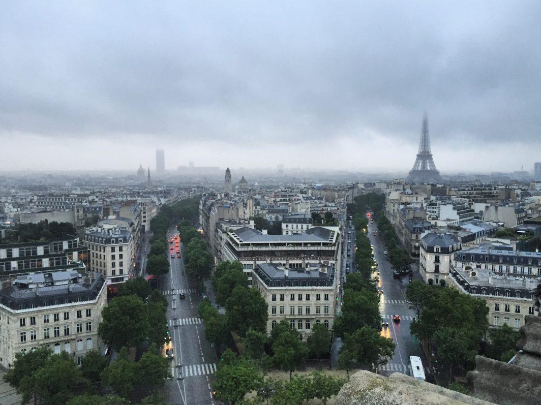 La vue depuis l'Arc de Triomphe, l'une des plus belles vues de Paris