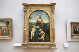 Le tableau de la belle jardinière de Raphaël au Louvre