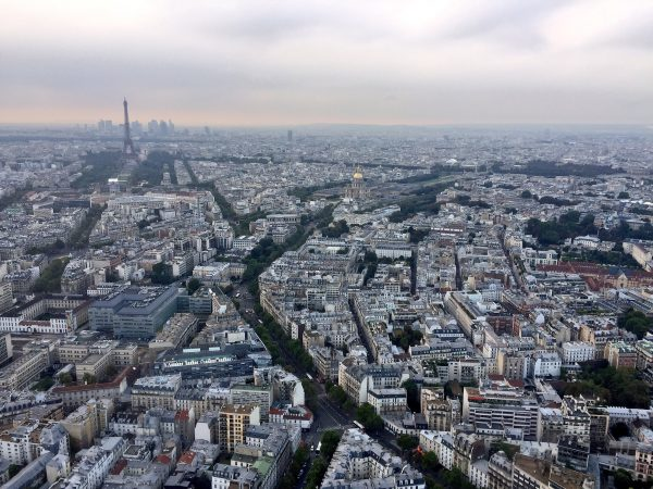 Vue sur tout Paris depuis la tour Montparnasse